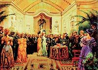 Inauguración. Momento de la apertura, en el año 1910.