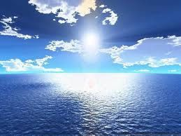 (3) 8000 millones de años (aC) - Se comienza a enfriar la tierra y quedan consolidados los mares. El sol que alumbra nuestro planeta es de intenso color azul.