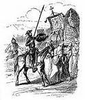 09 - La novela consta de dos partes: la primera, El ingenioso hidalgo don Quijote de la Mancha, fue publicada en 1605; la segunda, Segunda parte del ingenioso caballero don Quijote de la Mancha, en 1615.