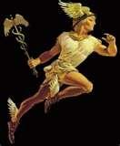 13 - Comencé estudiando a un personaje de la mitología griega, pensando que me serviría de modelo en la búsqueda de nuestro heraldo nativo. El elegido fue Hermes, el hijo de Zeus y de la náyade Maya, que desde su nacimiento en la cumbre de la montaña Cilino, en Arcadia, dio señales de especial creatividad y simpatía. Invento la lira y a través de la poesía de su música  pudo comunicarse con mucha empatía y deleitar a cuanta persona lo escuchaba.