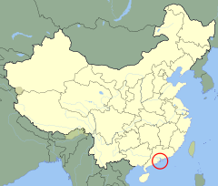 Ubicación de Macao