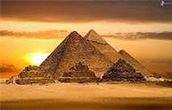 02 - La Gran Pirámide de Guiza. Terminada alrededor del año 2570 a. C., fue construida para el faraón Keops. Ubicada en Guiza, Egipto, es la única de las siete maravillas del mundo antiguo que aún se puede contemplar.