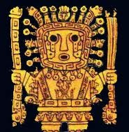 07 - Una mañana de un crudo invierno, cuando los dioses estaban formando el Antiguo Perú,  decidieron atender el pedido de los hombres, que solicitaban mayor cantidad y calidad de alimentos y les enviaron con Chiwake, - El mensajero de los dioses - Una olla mágica de la que saldrían los potajes más deliciosos, ya listos; pero Chiwake era traviesa y juguetona y perdió en el camino tan preciado regalo.