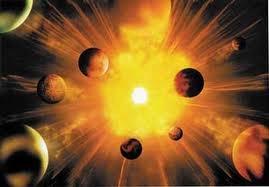 (1) 14,500,000,000 (aC) - El sol y la tierra comenzaron su historia como planetas, después de la gran explosión que lo originó todo. ¿Por qué sucedió esto? ¡Es el mayor Ministerio que existe - es el Ministerio de la vida misma - ¡es el Ministerio de la Fe!