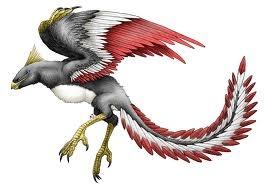 (16) 180 millones de años (aC) - Aparecen los primeros animales capaces de volar, son los pájaros. Uno de los primeros es el enorme Archeoteryx.