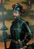 44 - (1534) El capitán español Sebastián de Belalcázar, organiza una expedición al reino de Quito. Lucha una sangrienta batalla contra Rumiñahui el valiente y sagaz capitán Inca, después  junto con Diego de Almagro fundan Santiago de Quito, la actual capital del Ecuador.