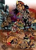 085 - (1535) La Resistencia.  Manco II junto con numerosos caciques incas, denominados por diversos cronistas e historiadores como Tey Yupanqui, Titu Yupanqui, Huallpa Roca Yupanqui, Quispe Yupanqui, Illa Topa, también interviene Vilca Umu, el gran sacerdote del Sol. Inician la resistencia contra los conquistadores españoles, sitiaron Cusco y Lima.